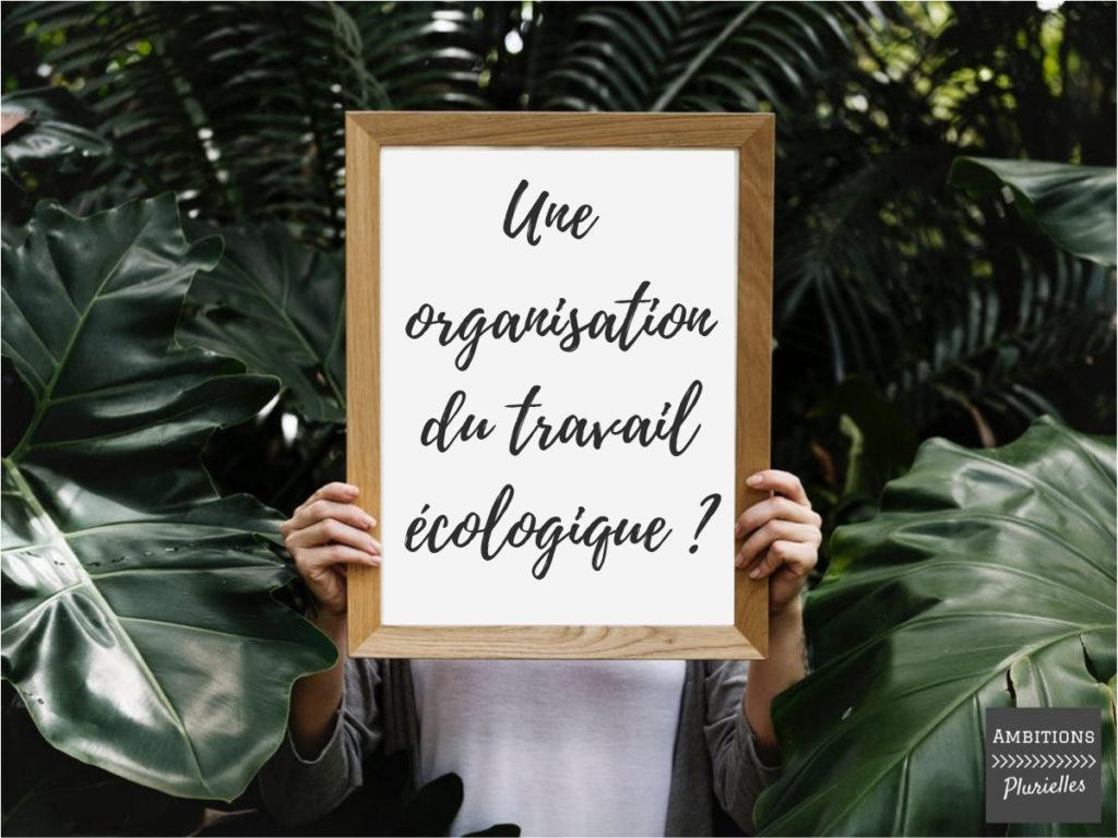 entrepreneure organsiation du travail écologique