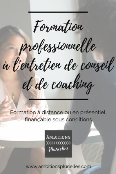 formation professionnelle à l'entretien de conseil et de coaching