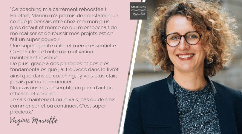 Témoignage Virginie Marielle coaching entrepreneure Ambitions Plurielles