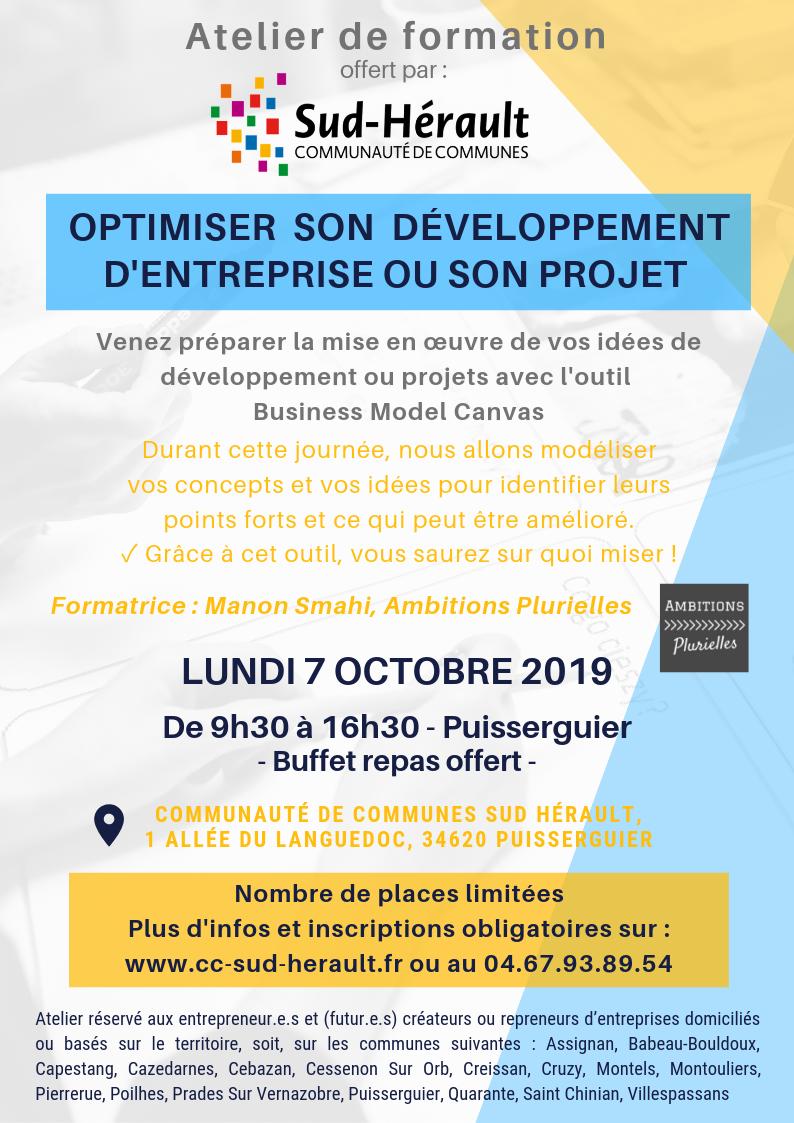 Atelier de formation (futurs) Entrepreneur.e.s de la Communauté de Communes Sud Hérault