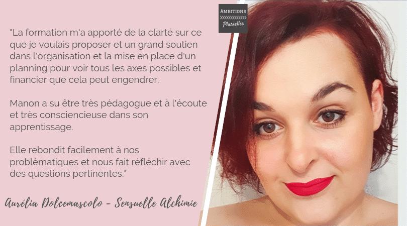 Aurélia Dolcemascolo - Témoignage formation professionnelle en développement d'activité - Ambitions Plurielles