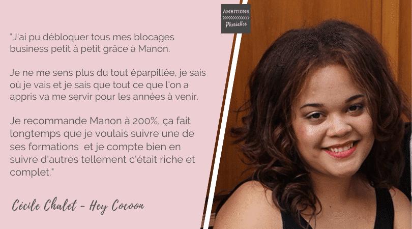 Cécile Challet témoignage formation développement de soloentreprise Ambitions Plurielles