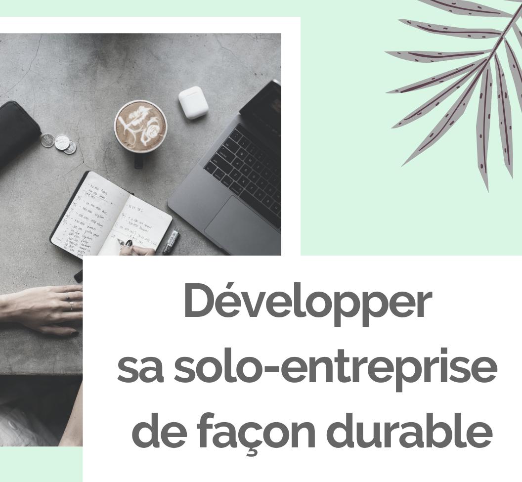 Formation professionnelle Développer sa solo-entreprise de façon durable - Ambitions Plurielles