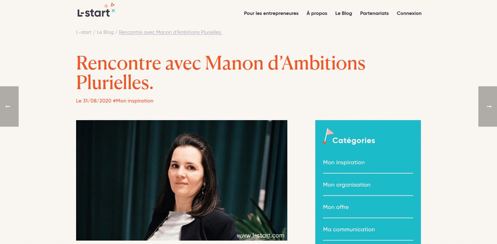 Manon Smahi Cuzin coach et formatrice pour femmes entrepreneures