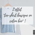 L'effet tee-shirt basique en coton bio